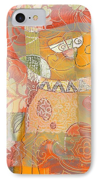 Patchwork Kitty IPhone Case by Jacky Gerritsen