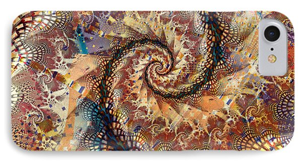 IPhone Case featuring the digital art Patchwork Spiral by Richard Ortolano
