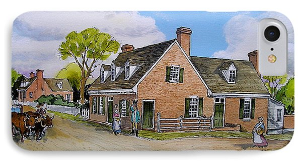 Pate House Yorktown IPhone Case by Ebb Pate