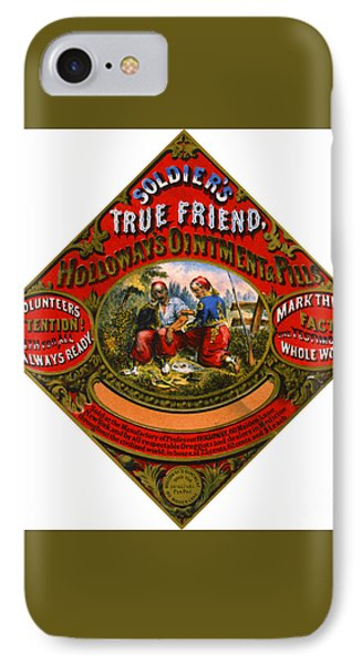 IPhone Case featuring the photograph Patent Medicine Label 1862 by Padre Art