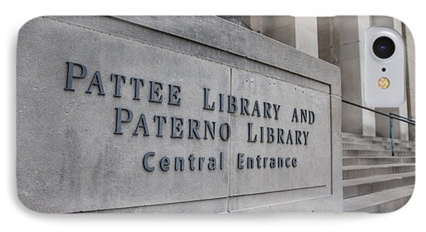 Paterno Library At Penn State  IPhone Case by John McGraw