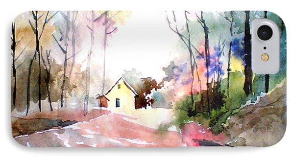 Path In Colors Phone Case by Anil Nene