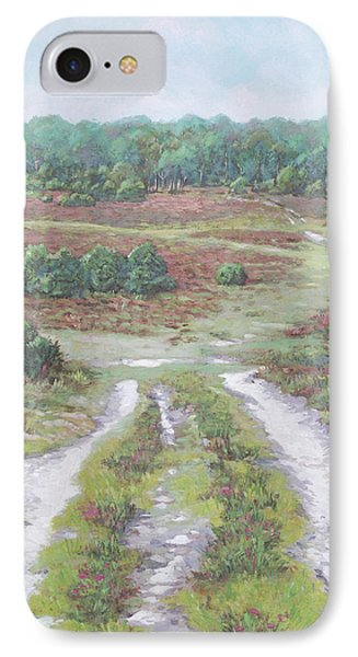 IPhone Case featuring the painting Path In New Forest  by Martin Davey