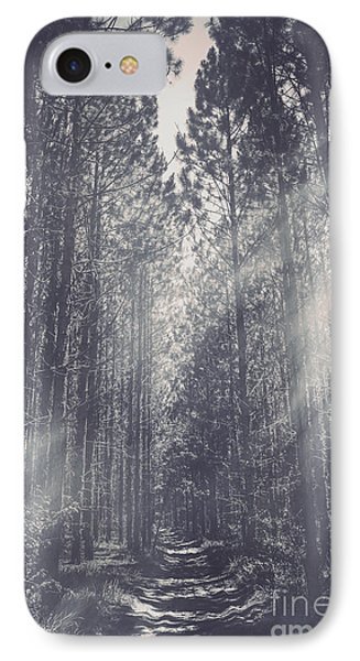 Path Leading Through Mysterious Woodlands IPhone Case by Jorgo Photography - Wall Art Gallery