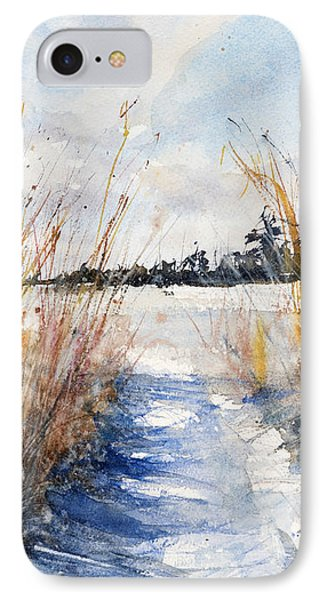 Path Shadows In The Way Back IPhone Case by Judith Levins