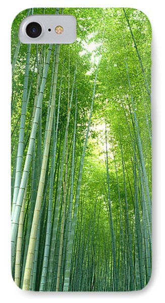 Path Through Bamboo Forest Kyoto Japan IPhone Case by Panoramic Images