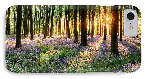 Path Through Bluebell Woods IPhone Case