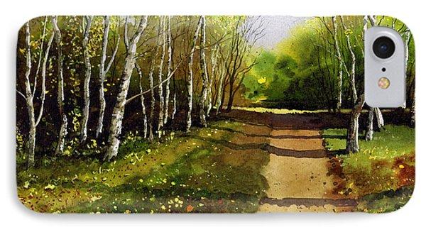 Path Through Silver Birches Phone Case by Paul Dene Marlor