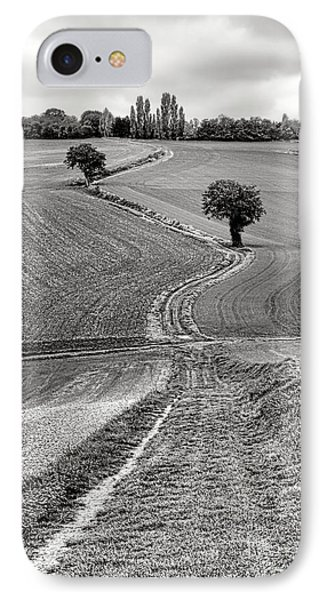 Path Through The French Countryside IPhone Case by Olivier Le Queinec