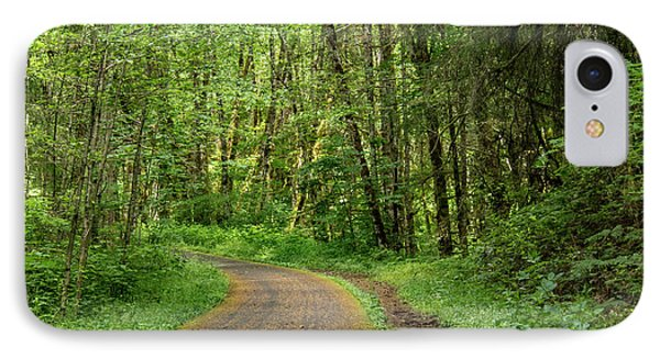 IPhone Case featuring the photograph Path Through The Woods by Jean Noren