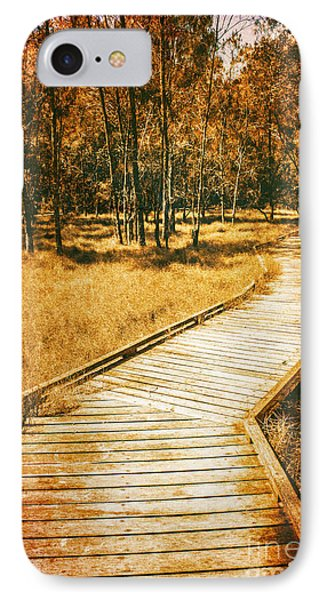 Path To Autumn Marshlands IPhone Case by Jorgo Photography - Wall Art Gallery