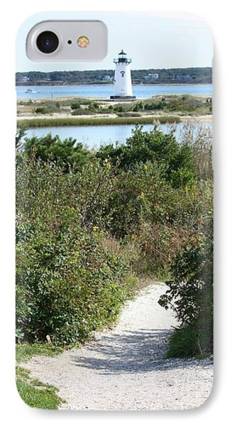 Path To Edgartown Lighthouse Phone Case by Carol Groenen