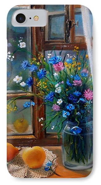 IPhone Case featuring the painting Path To Home by Nina Mitkova