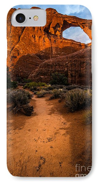 IPhone Case featuring the photograph Path To Skyline Arch At Sunset - Utah  by Gary Whitton