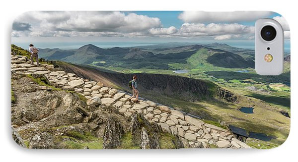 Path To Snowdon IPhone Case by Adrian Evans