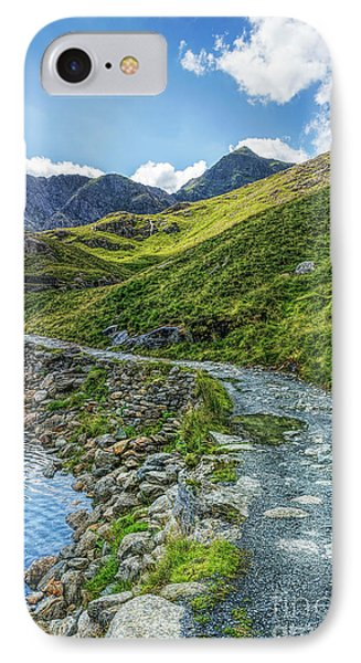 IPhone Case featuring the photograph Path To Snowdon by Ian Mitchell