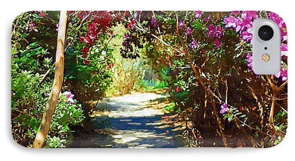 IPhone Case featuring the digital art Path To The Gardens by Donna Bentley