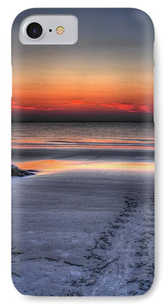 Path To The Sea Jekyll Island Sea Turtle Art IPhone Case by Reid Callaway