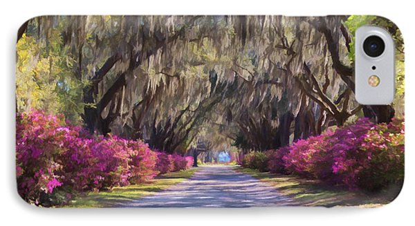 Pathway At Bonaventure Cemetery IPhone Case by Kim Hojnacki