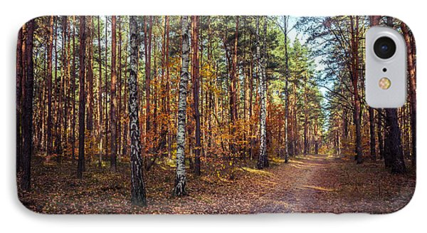 Pathway In The Autumn Forest IPhone Case by Dmytro Korol