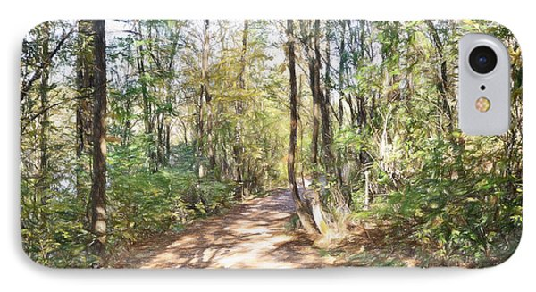 Pathway In The Woods IPhone Case by Rena Trepanier