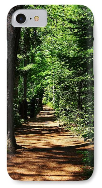 Pathway To Peacefulness IPhone Case by Bruce Bley
