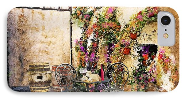 Patio And Wine IPhone Case