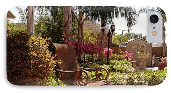Patio View IPhone Case by Diane Ferguson