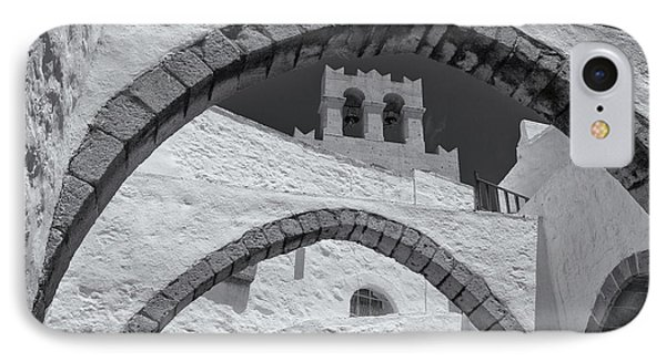 Patmos Monastery Arches IPhone Case by Inge Johnsson