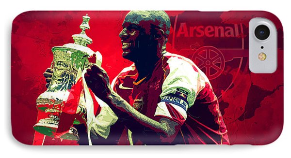 Patrick Vieira IPhone Case by Semih Yurdabak