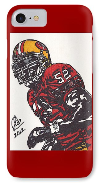 IPhone Case featuring the drawing Patrick Willis by Jeremiah Colley