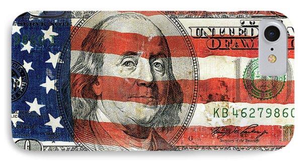 Patriotic Benjamin IPhone Case by Jon Neidert