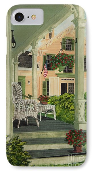 Patriotic Country Porch Phone Case by Charlotte Blanchard