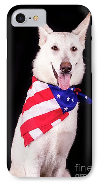 Patriotic Dog IPhone Case by Stephanie Hayes