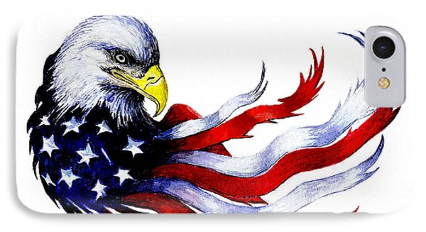 Patriotic Eagle IPhone Case by Andrew Read