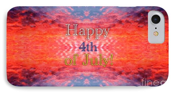 Patriotic Fourth Of July Greeting IPhone Case by Kimberlee Baxter