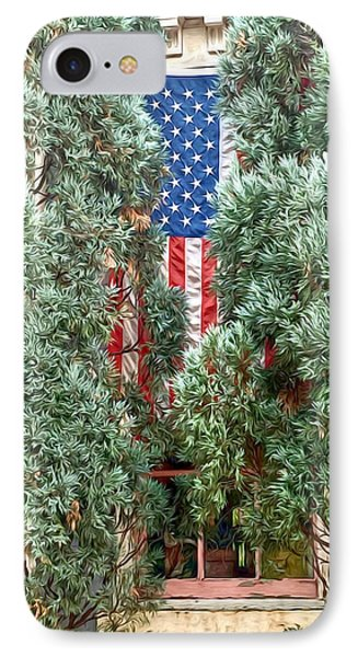 IPhone Case featuring the photograph Patriotic Georgetown Home by Lorella Schoales