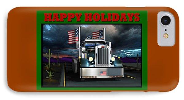 IPhone Case featuring the digital art Patriotic Pete Happy Holidays by Stuart Swartz