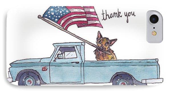 Patriotic Puppy Card IPhone Case by Katrina Davis