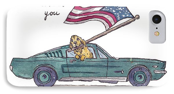 Patriotic Puppy Thank You Card IPhone Case by Katrina Davis