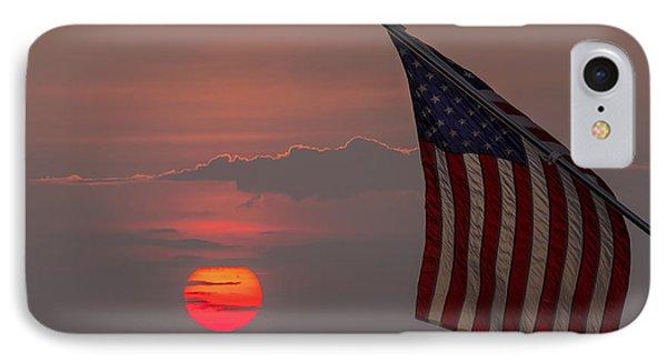 Patriotic Sunset Phone Case by Mark Papke