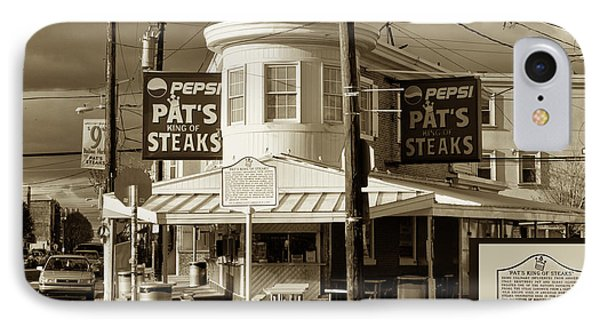 Pat's King Of Steaks - Philadelphia Phone Case by Bill Cannon