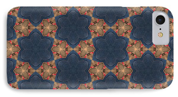 Pattern Of Blue Stone Flowers IPhone Case