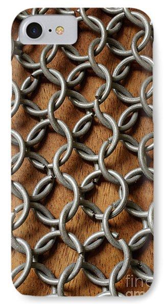 Pattern Of Metal Rings IPhone Case by Edward Fielding