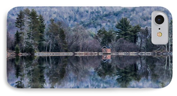 Patterns And Reflections At The Lake IPhone Case by Nancy De Flon