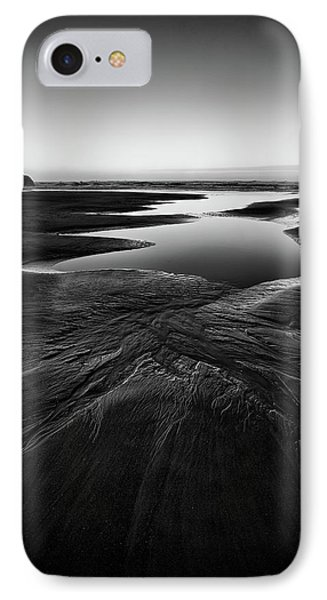 IPhone Case featuring the photograph Patterns In The Sand by Jon Glaser