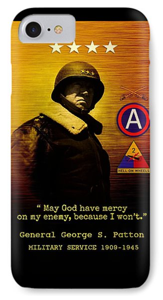Patton Tribute IPhone Case by John Wills