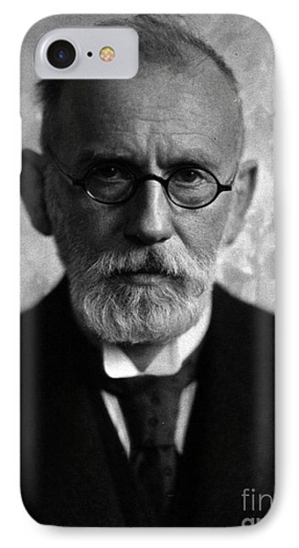 Paul Ehrlich, German Immunologist Phone Case by Science Source