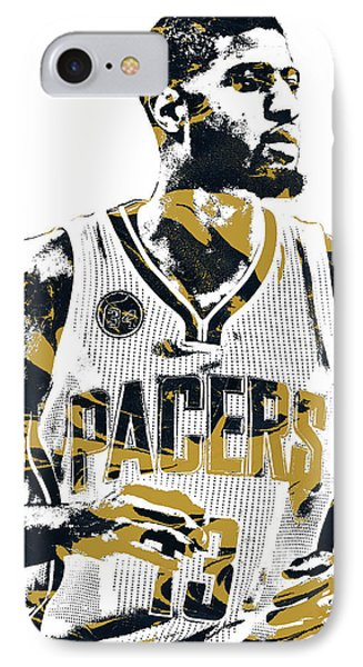 Paul George Indiana Pacers Pixel Art IPhone Case
