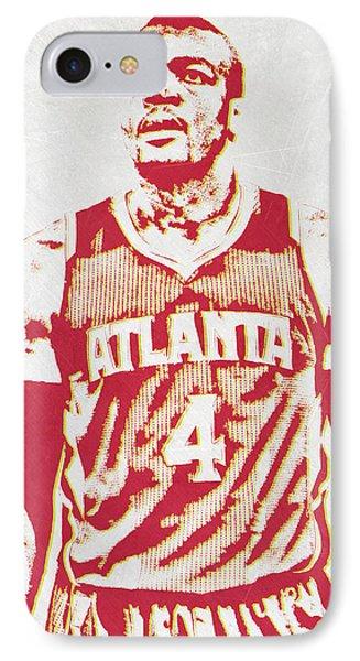 Paul Millsap Atlanta Hawks Pixel Art IPhone Case